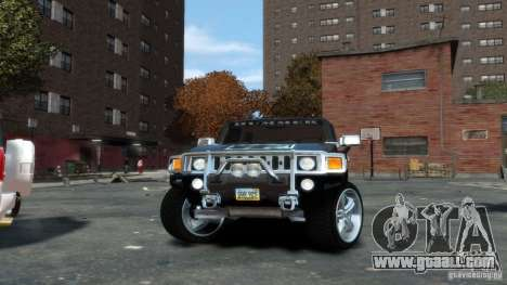 Hummer H3 2005 Chrome Final for GTA 4 right view