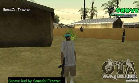 Grove Hud By SCT for GTA San Andreas third screenshot
