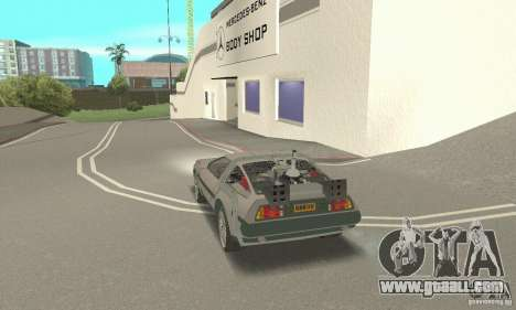 DeLorean DMC-12 (BTTF3) for GTA San Andreas left view