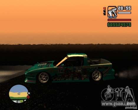 Nissan RPS13 Pick-Up Moscow Drift for GTA San Andreas left view