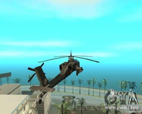 Ka-50 Black Shark for GTA San Andreas right view