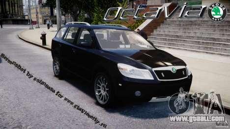 Skoda Octavia Scout Unmarked [ELS] for GTA 4