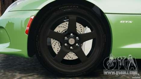 SRT Viper GTS 2013 for GTA 4 side view