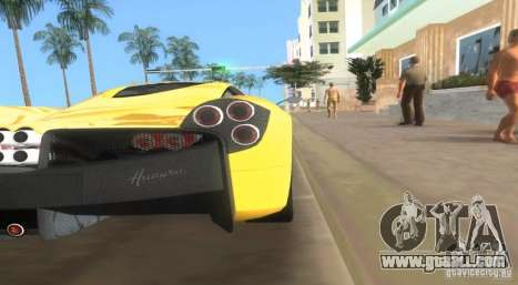 Pagani Huayra for GTA Vice City left view