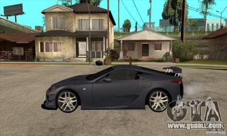 Lexus LFA 2010 v2 for GTA San Andreas left view
