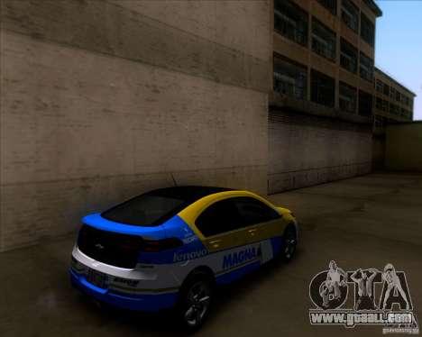 Chevrolet Volt 2012 Stock for GTA San Andreas interior