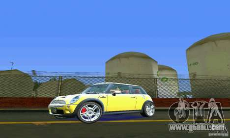 Mini Cooper S for GTA Vice City left view
