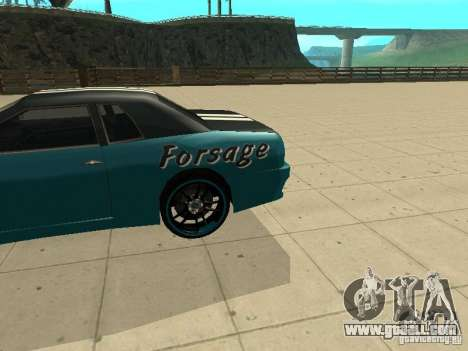 Elegy Forsage for GTA San Andreas back left view