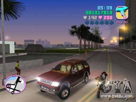 Ford Explorer for GTA Vice City left view