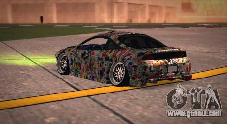 Mitsubishi Eclipse 1997 Drift for GTA San Andreas back left view