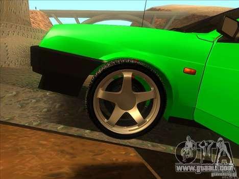 VAZ 2109 Winter for GTA San Andreas inner view