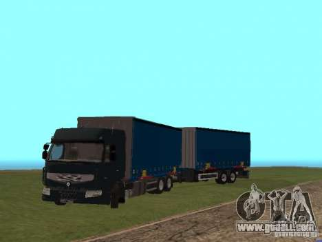 Trailer Renault Premium for GTA San Andreas back left view