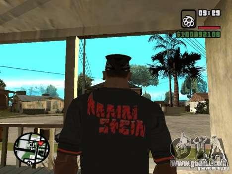Rammstein t-shirt v2 for GTA San Andreas second screenshot
