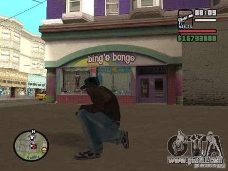 Blue Nike Air Force for GTA San Andreas third screenshot