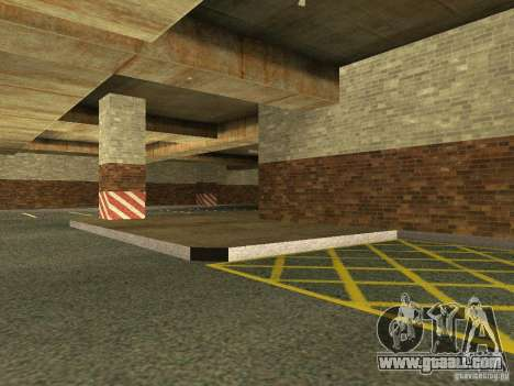 The new underground garage by police in Los Sant for GTA San Andreas