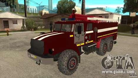 Ural 43206 firefighter for GTA San Andreas