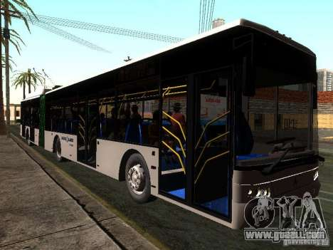 Trolleybus LAZ E301 for GTA San Andreas back left view