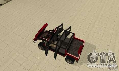 Hummer Civilian Vehicle 1986 for GTA San Andreas back view