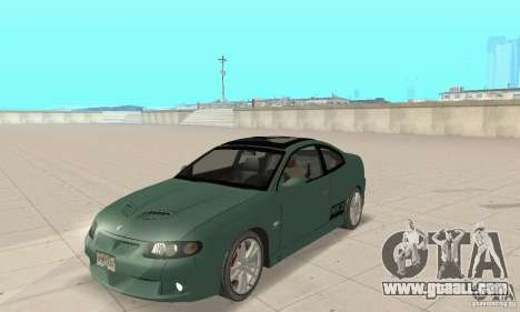 Vauxhall Monaro VXR Open SKY 2004 for GTA San Andreas