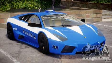 Lamborghini Reventon Polizia Italiana for GTA 4 left view