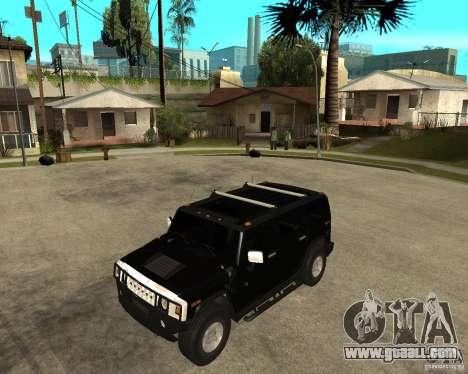 AMG H2 HUMMER SUV FBI for GTA San Andreas