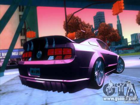 Ford Mustang Eleanor Prototype for GTA San Andreas back view