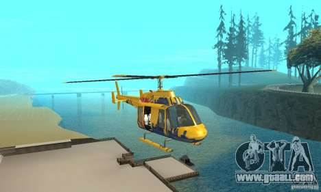 The sightseeing helicopter from gta 4 for GTA San Andreas