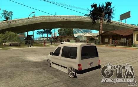 Citroen Berlingo 2007 for GTA San Andreas back left view