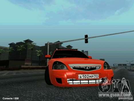 LADA 2170 102-RUS for GTA San Andreas side view