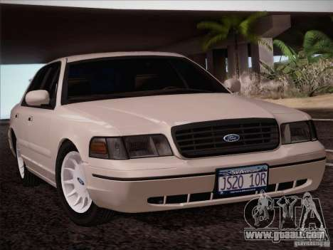 Ford Crown Victoria Interceptor for GTA San Andreas back left view