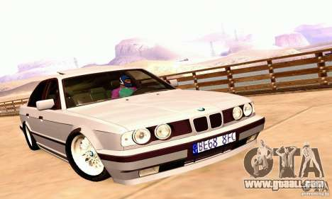 BMW E34 525i for GTA San Andreas back left view