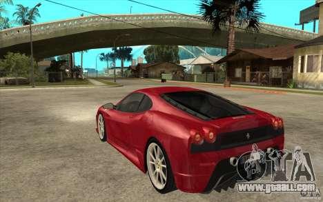 Ferrari F430 Scuderia for GTA San Andreas back left view