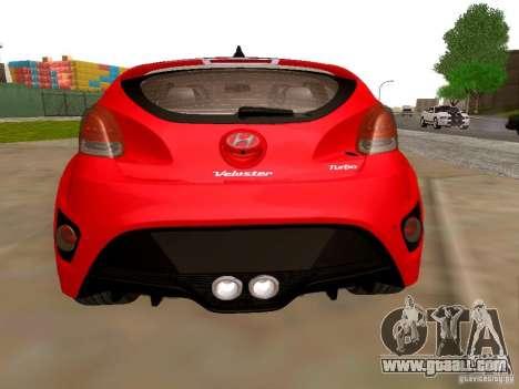 Hyundai Veloster Turbo v1.0 for GTA San Andreas back left view