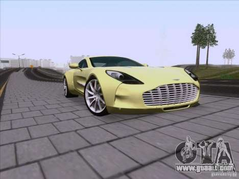 Aston Martin One-77 2010 for GTA San Andreas side view