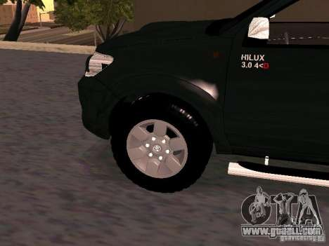 Toyota Hilux SRV 3.0 4X4 Automatica for GTA San Andreas right view