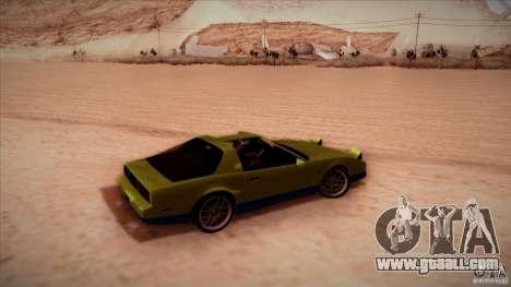 Pontiac Firebird Trans Am for GTA San Andreas back left view