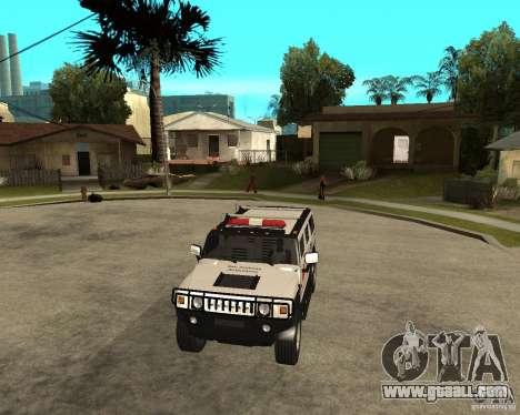 AMG H2 HUMMER - RED CROSS (ambulance) for GTA San Andreas back view