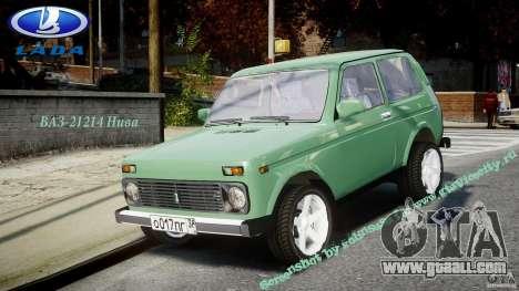 Vaz-21214 Niva (Lada 4 x 4) for GTA 4 right view