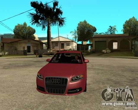 Audi S4 tunable for GTA San Andreas back view