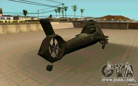 Sikorsky RAH-66 Comanche stealth green for GTA San Andreas back view