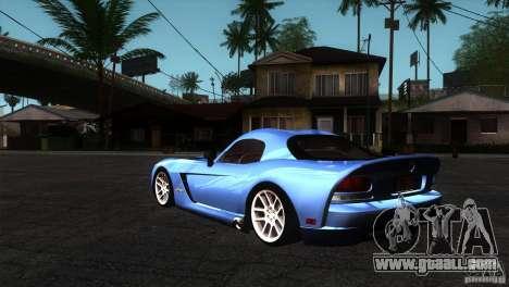 Dodge Viper SRT10 Stock for GTA San Andreas back left view