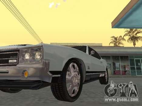 SabreGT from GTA 4 for GTA San Andreas back view