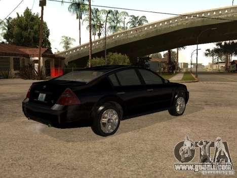 Nissan Teana for GTA San Andreas back view