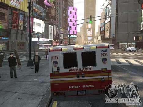Chevrolet Ambulance FDNY v1.3 for GTA 4 back left view