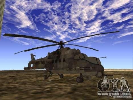 Mi-24 of COD MW 2 for GTA San Andreas