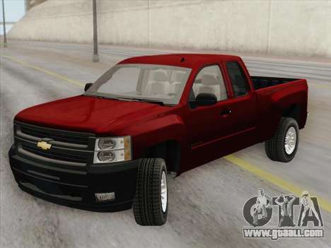 Chevrolet Silverado 2500HD 2013 for GTA San Andreas back view
