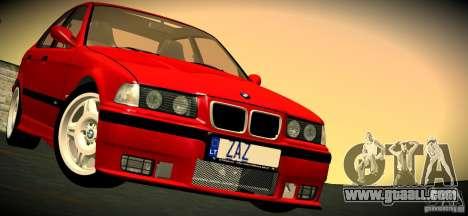 BMW M3 E36 for GTA San Andreas interior