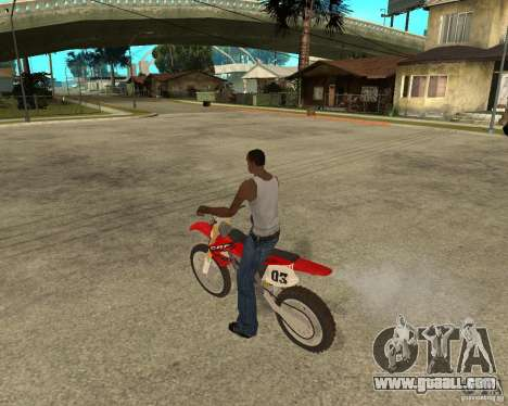 Honda CRF450R extreme Edition for GTA San Andreas left view