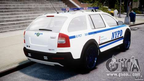 Skoda Octavia Scout NYPD [ELS] for GTA 4 back left view