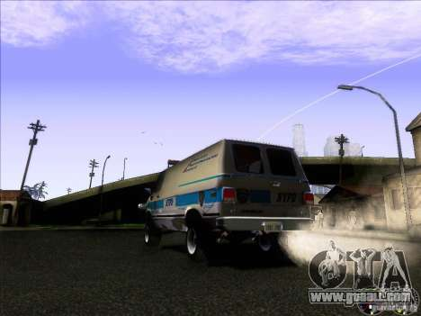 Chevrolet VAN G20 NYPD SWAT for GTA San Andreas right view